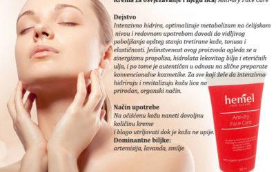 Krema za osvježavanje i njegu lica Anti-dry Face Care